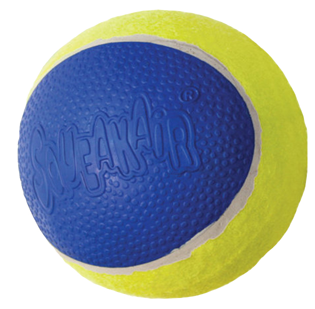 Апорт для собак KONG мячик средний, желтый, синий, длина 6 см, 3 шт
