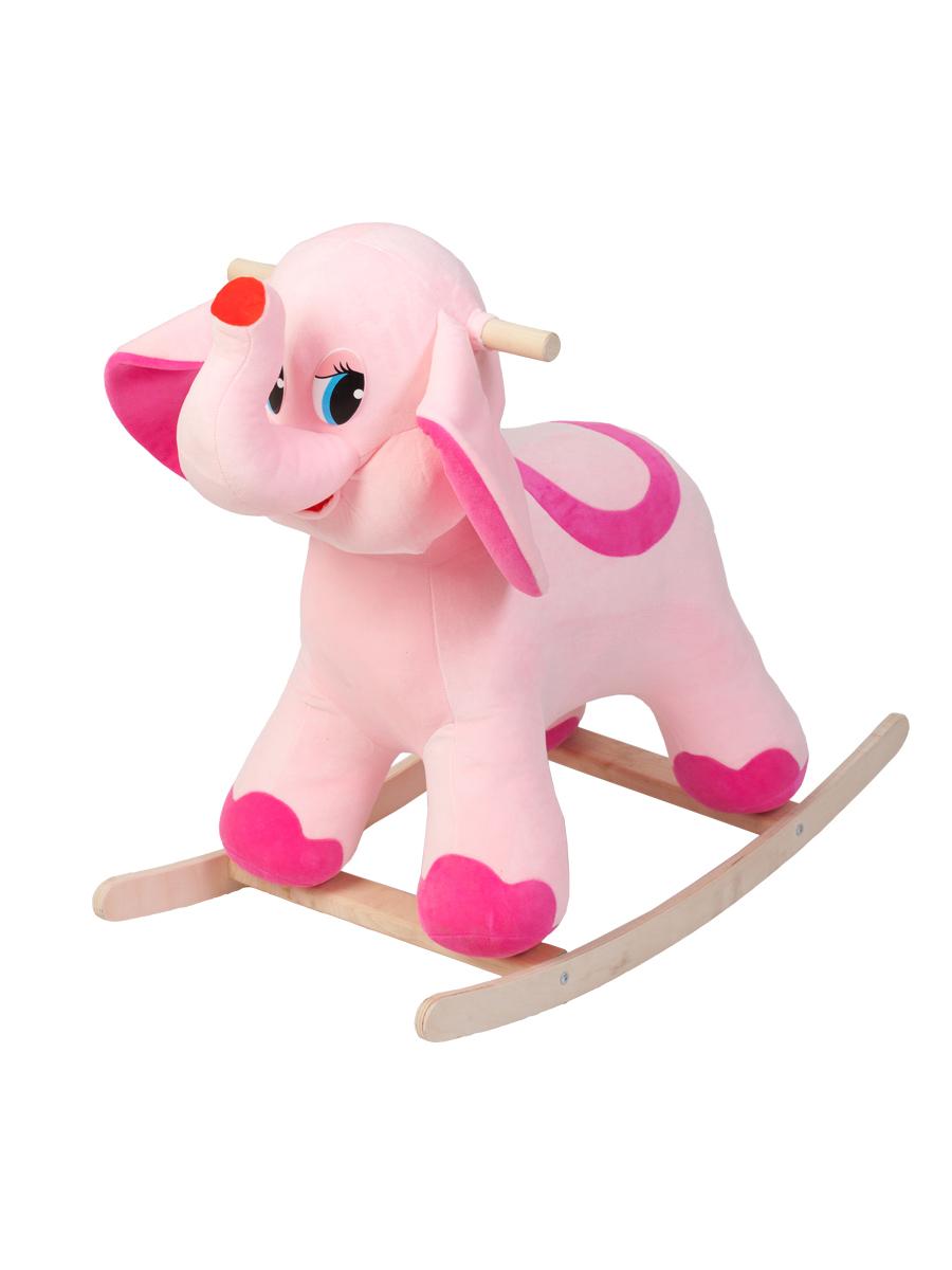 Купить Качалка ToysGo Слон розовый, Качалки детские