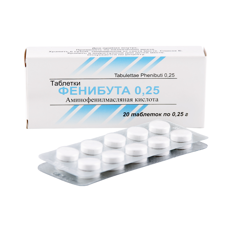 Фенибут таблетки 0,25 г 20 шт.