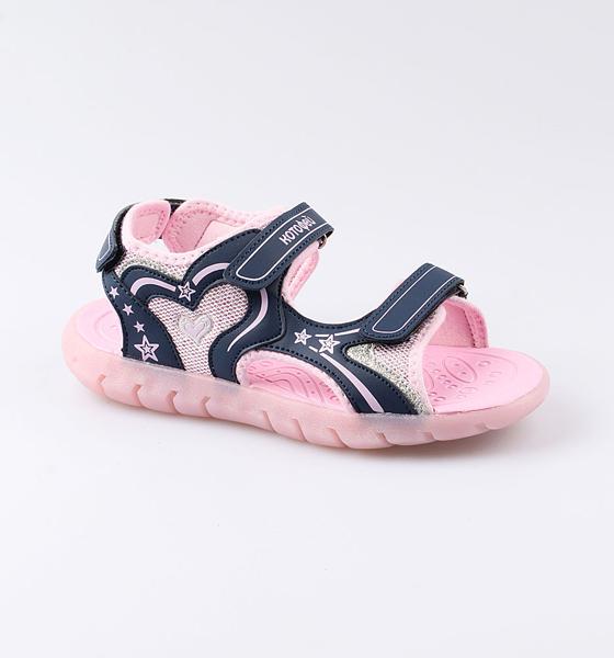 Пляжная обувь Котофей для девочки р.35 524048-12 синий
