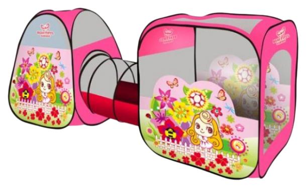 Палатка игровая Наша Игрушка с тоннелем Цветочный рай