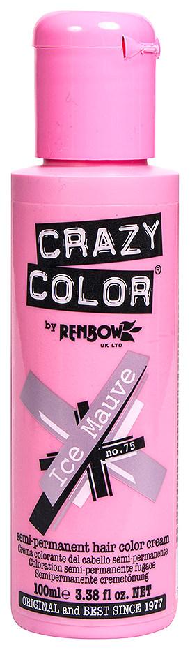 Краска для волос Crazy Color 75 Ice Mauve Ледяной лиловый 100 мл