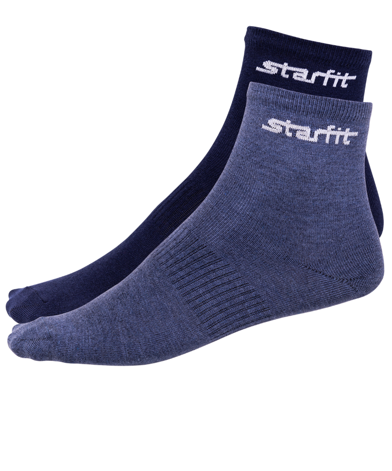 Носки StarFit SW-206, темно-синие/синий меланж, 43-46 EU