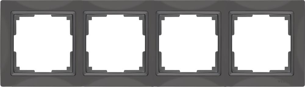 Рамка для выключателя Werkel WL03-Frame-04 a036701 серо-коричневый