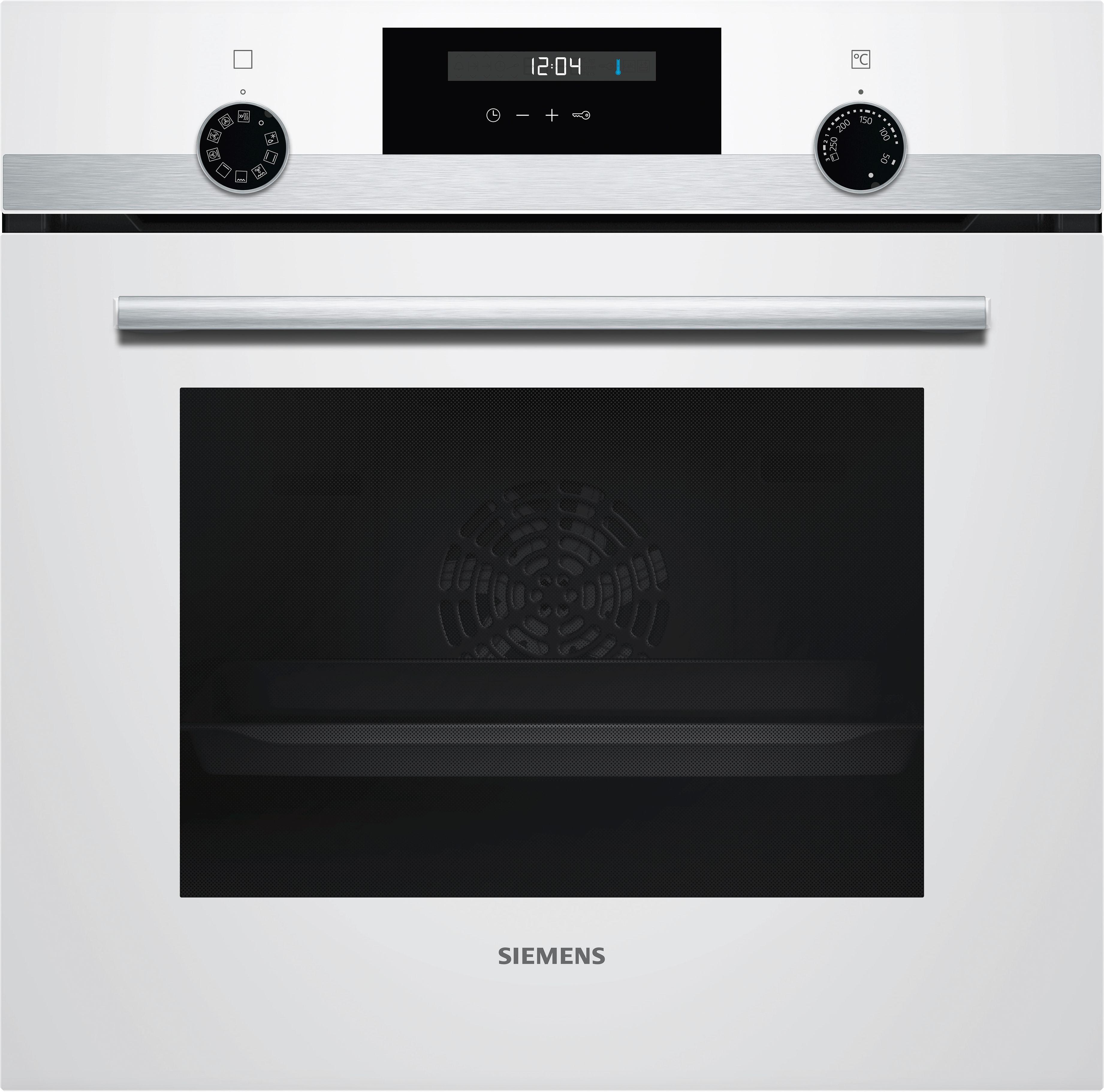 Встраиваемый электрический духовой шкаф Siemens HB537JEV0R Silver/White