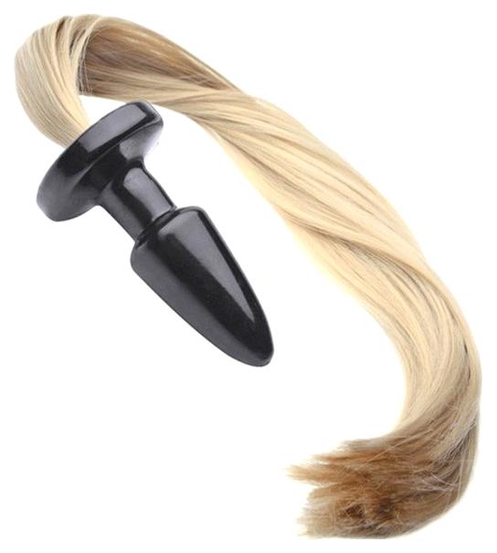 Пробка с длинным хвостом Блонди 11 см