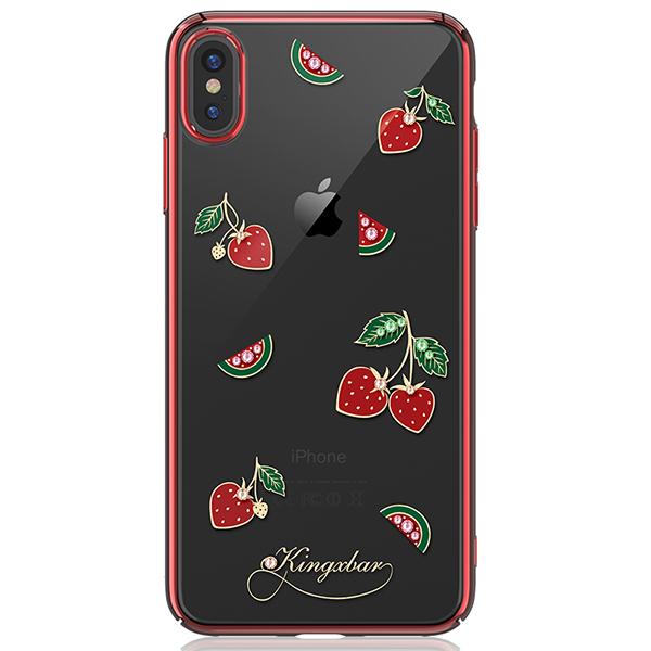 Чехол Kingxbar с Swarovski Tropical Series для Apple iPhone Xs Max фото