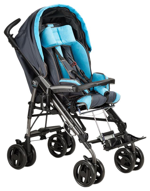 Купить Коляска-трость Fumagalli Pliko для детей с ДЦП черно-голубой