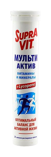 Купить Мульти Актив, СупраВит Мульти-Актив шипучие таблетки №20, SupraVit