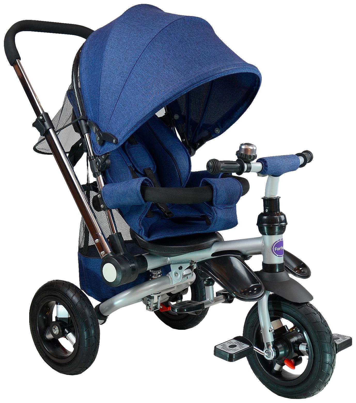 Велосипед трехколесный Farfello TSTX011 лен синий, Детские велосипеды-коляски  - купить со скидкой
