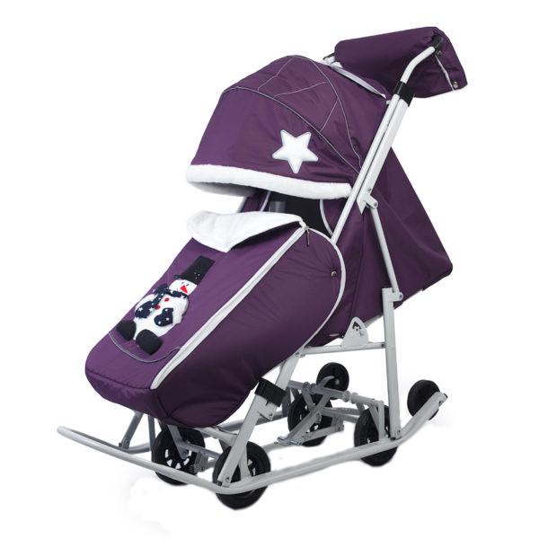 Купить Санки-коляска Pikate Toy Пурпурный, Санки складные