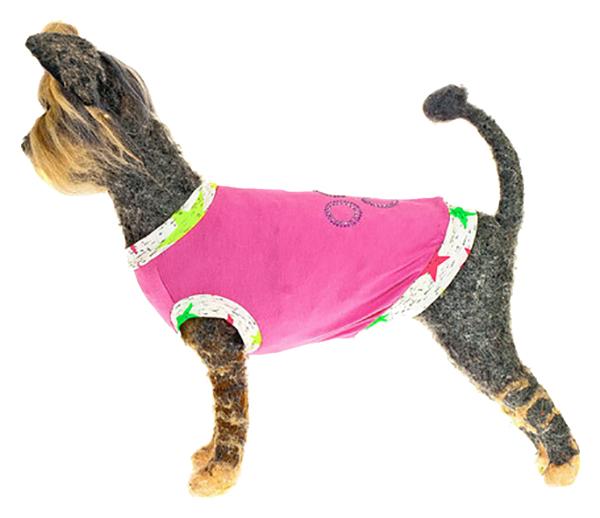 Майка для собак Happy Puppy Нежность розовый XL.