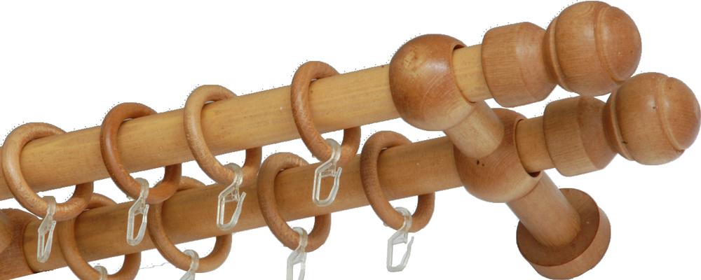 Карниз деревянный двухрядный ДК