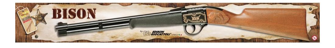 Купить Ружье Bison Gewehr Western 66 см, короб, Edison Giocattoli, Стрелковое игрушечное оружие