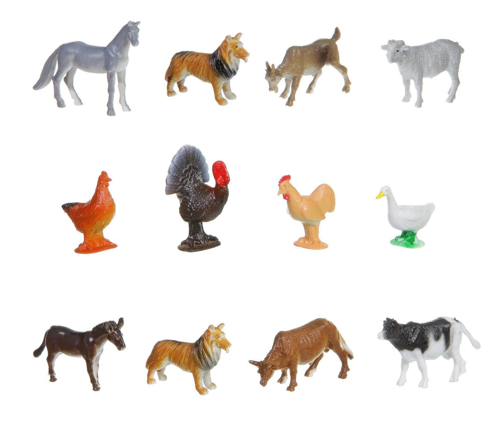 Купить Набор животных Bondibon ребятам о зверятах, домашние животные и птицы, 2, Фигурки животных