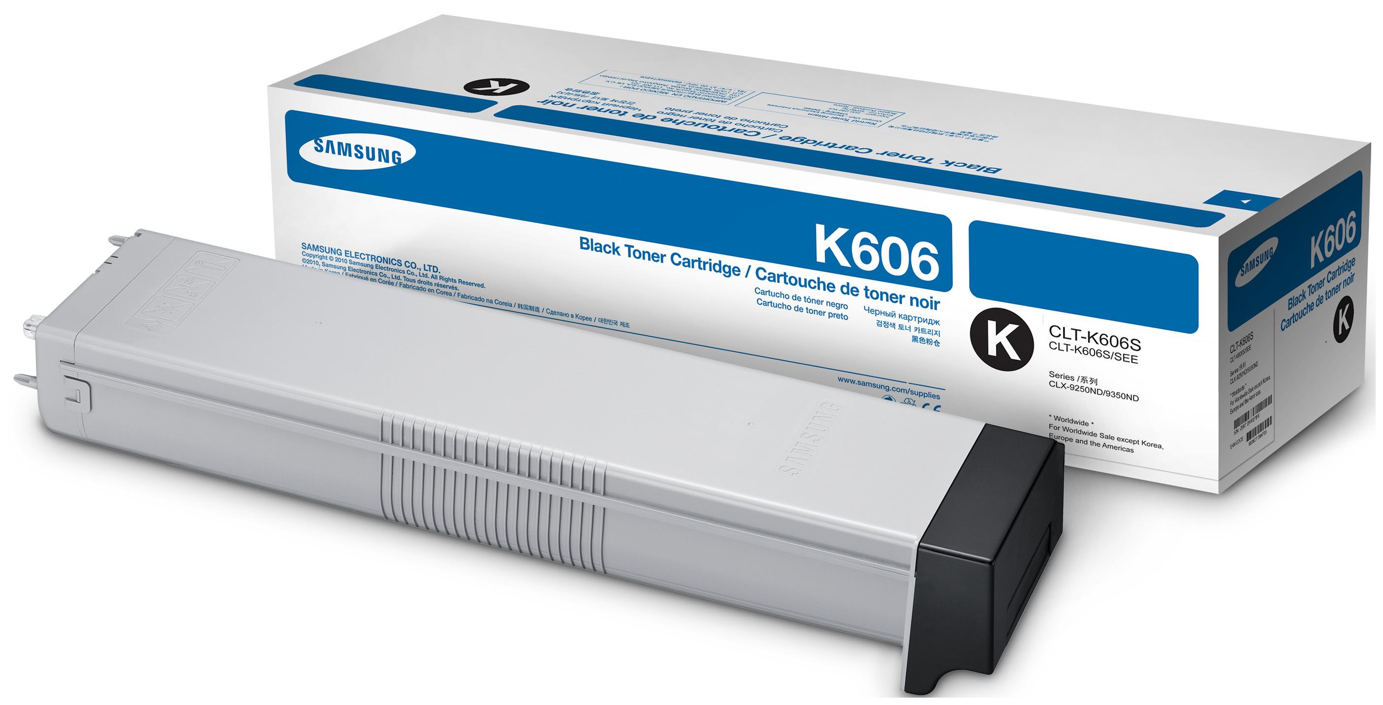 Картридж для лазерного принтера Samsung CLT-K606S, черный, оригинал