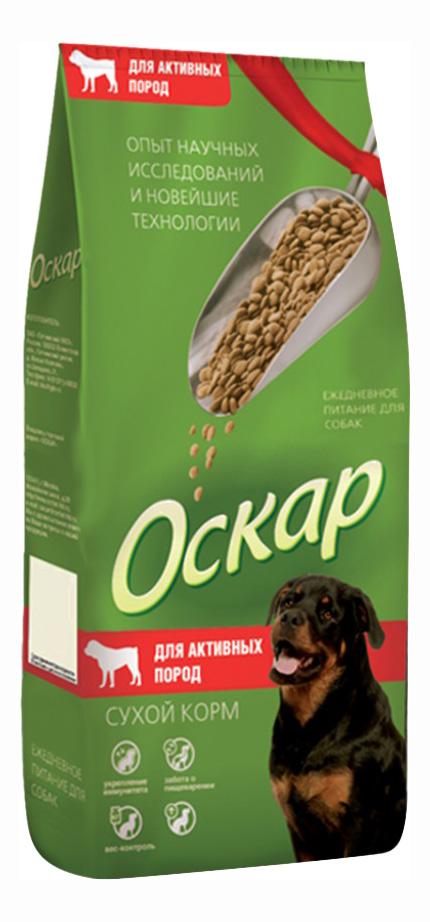 Сухой корм для собак Оскар Для активных, все породы, мясо, 13кг