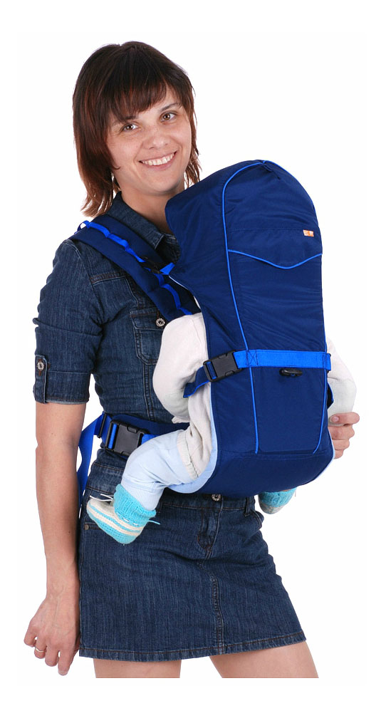 Рюкзак кенгуру Чудо Чадо BabyActive Simple синий