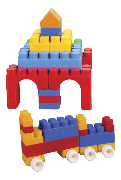 Купить Конструктор Pilsan Jumbo Magic Blocks 40 деталей в ведре, Конструкторы пластмассовые