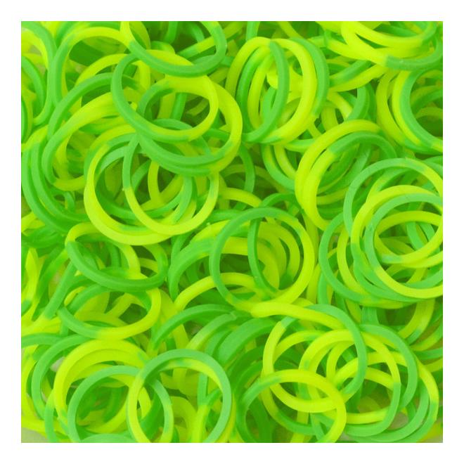 Плетение из резинок Rainbow Loom Silicone Bands - Yellow/green