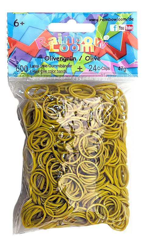 Плетение из резинок Rainbow Loom Solid Bands - Olive Green