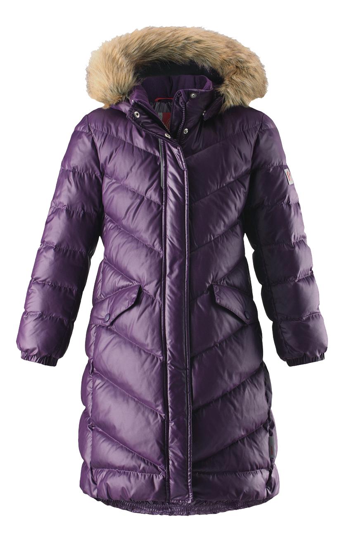 Пальто Reima пуховое для девочки Satu фиолетовое