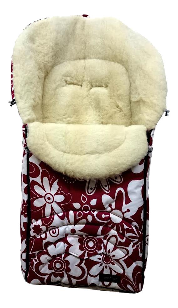 Купить Конверт-мешок для детской коляски WOMAR Excluzive красные/белые цветки, Конверты в коляску