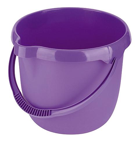 Ведро пластмассовое круглое 12л, фиолетовое //ТМ Elfe