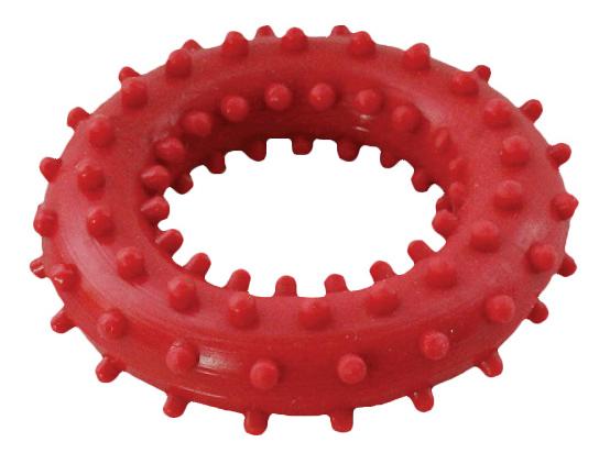 Жевательная игрушка для собак Зооник Кольцо с шипами №2, в ассортименте, 6,8 см
