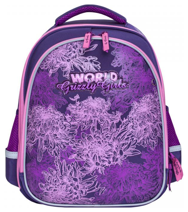 Купить Рюкзак детский Grizzly RA-879-4/1 Фиолетовый, Школьные рюкзаки для девочек
