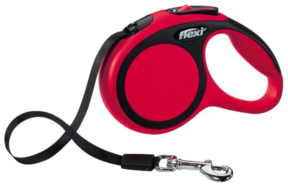 Поводок-рулетка для собак flexi New Comfort лента, красный, XS, до 12 кг, 3 м