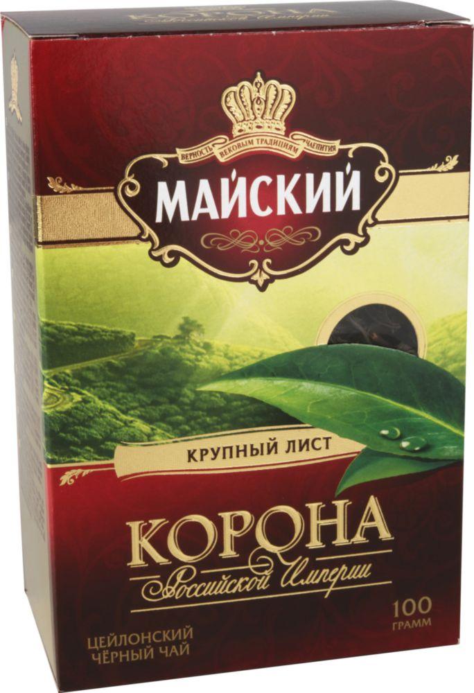 Чай черный Майский корона Российской Империи листовой 100 г