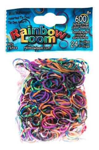 Плетение из резинок Rainbow Loom Радужный микс 600 шт.