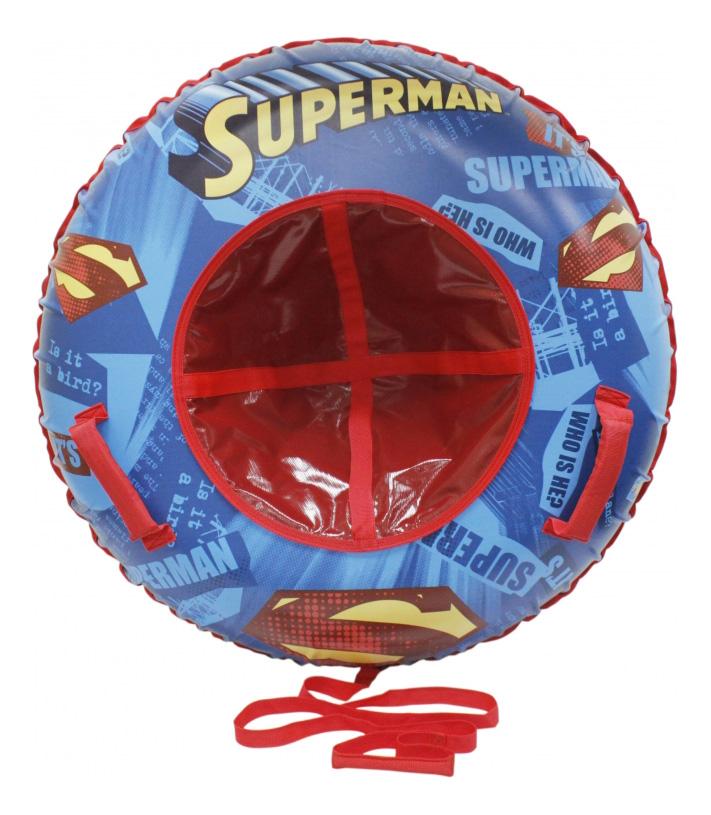 Тюбинг детский 1TOY Супермен с камерой 100 см фото