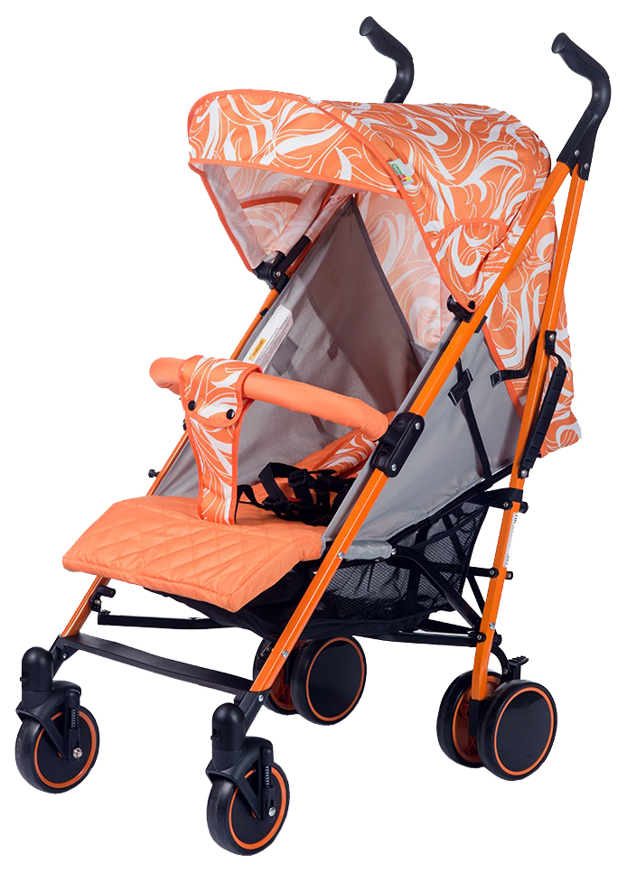 Коляска трость BabyHit Handy бело оранжевая