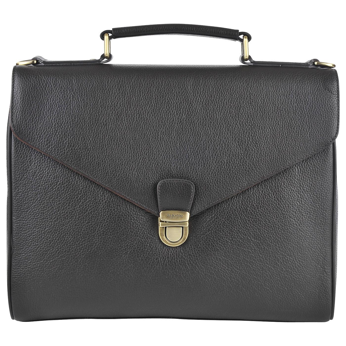 Портфель мужской кожаный Dr. Koffer B402613-220-09 коричневый фото