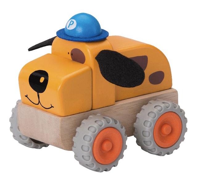 Деревянная игрушка для малышей Wonderworld Полицейская машина