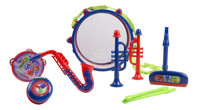 Набор музыкальных инструментов с барабаном Герои в масках Intertoy 33216 фото