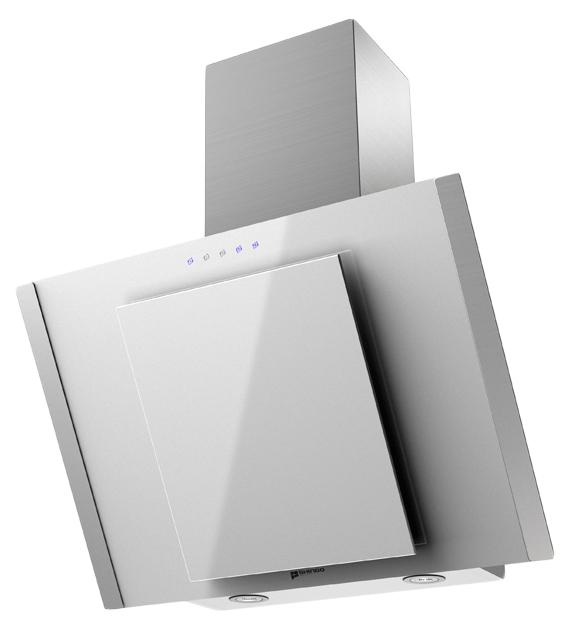 Вытяжка наклонная Shindo Ostaria Sensor 60SS/WG White/Silver