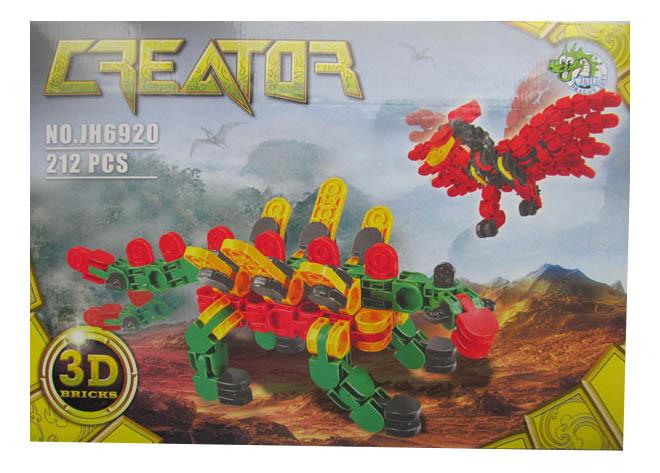 Конструктор Динозавры Dragon Toys Страйп 212 дет.