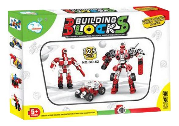 Купить Конструктор building blocks 125 деталей Г79336, Конструктор Building Blocks 125 деталей Gratwest Г79336, Конструкторы пластмассовые