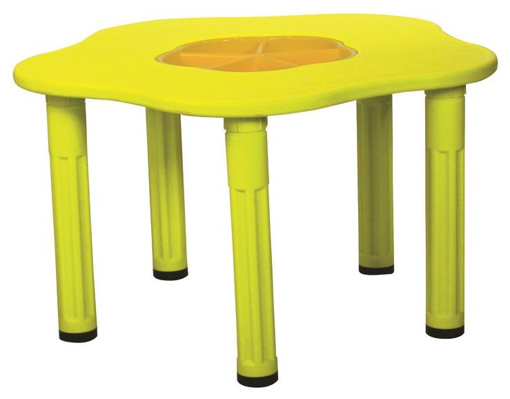 Купить Детский столик Сэнди с системой хранения мелочей King kids KK_KM1200_Y Желтый, KingKids, Детские столики