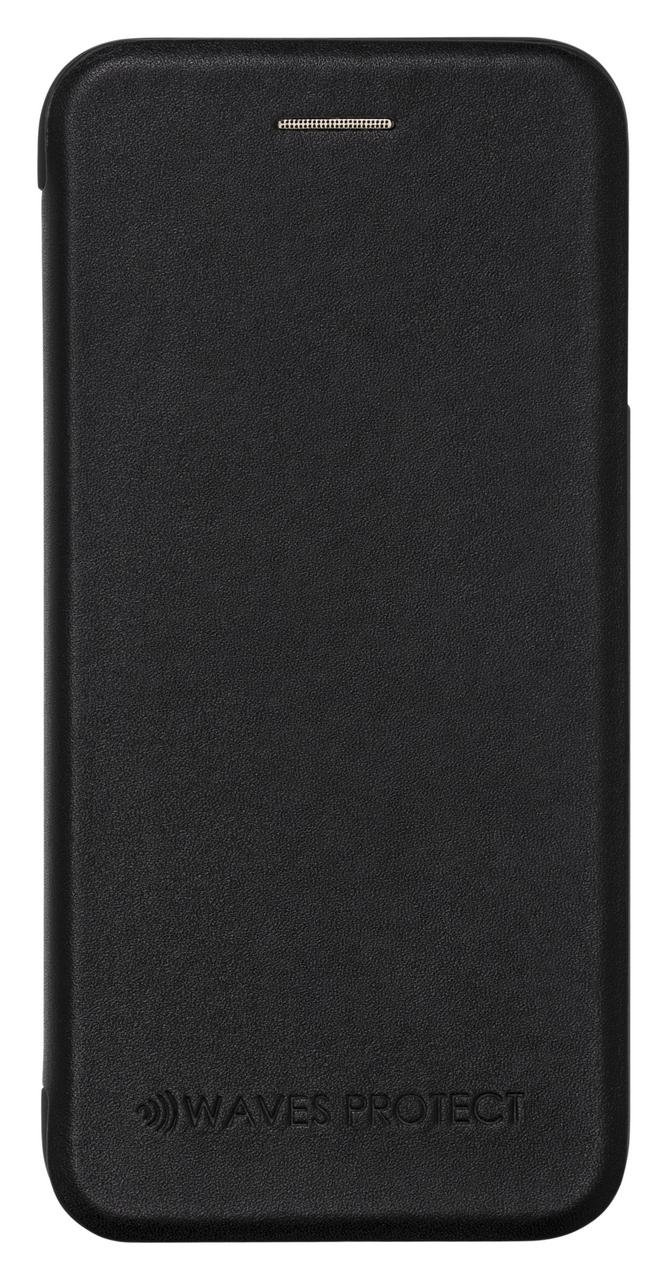 Чехол Waves Protect кожаный для iPhone 7 Plus, 8 Plus black