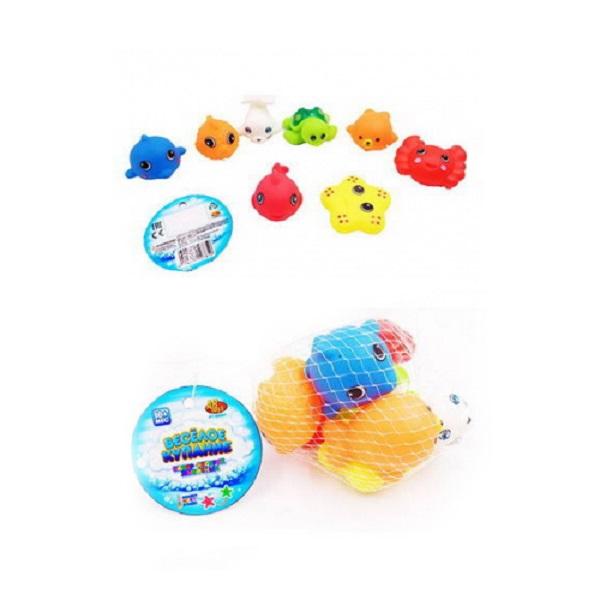 Купить Набор ABtoys резиновых морских обитателей для ванной Веселое купание, 8 предметов, Игрушки для купания малыша