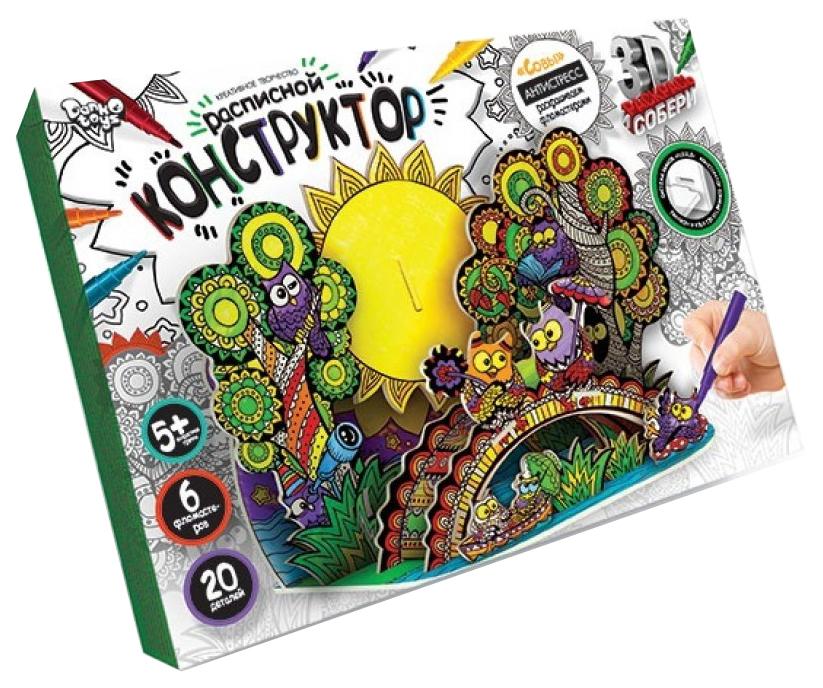 Купить Набор для творчества Danko Toys Расписной Конструктор Совы, Наборы для рисования