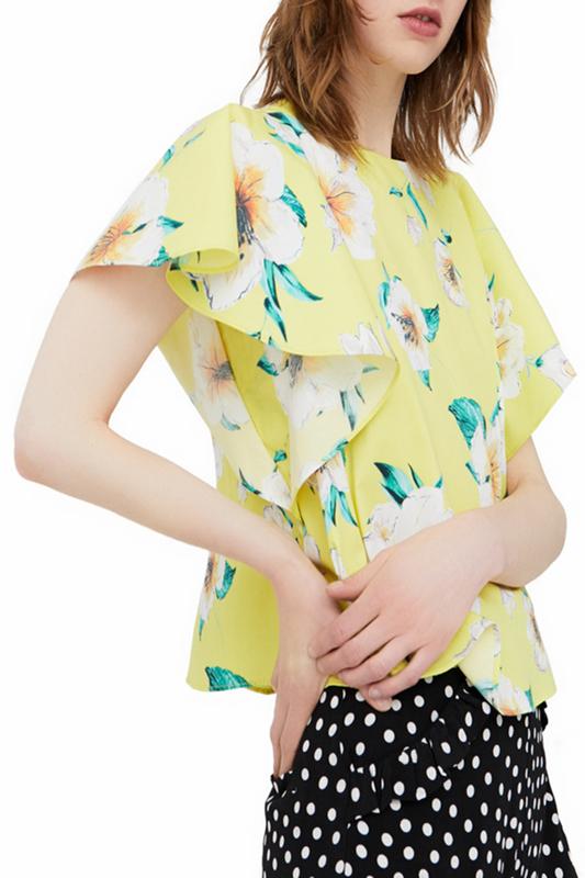 Блуза женская MANGO 81049054-12 YELLOW желтая M