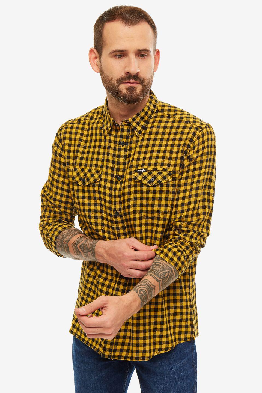 Рубашка мужская Wrangler желтая