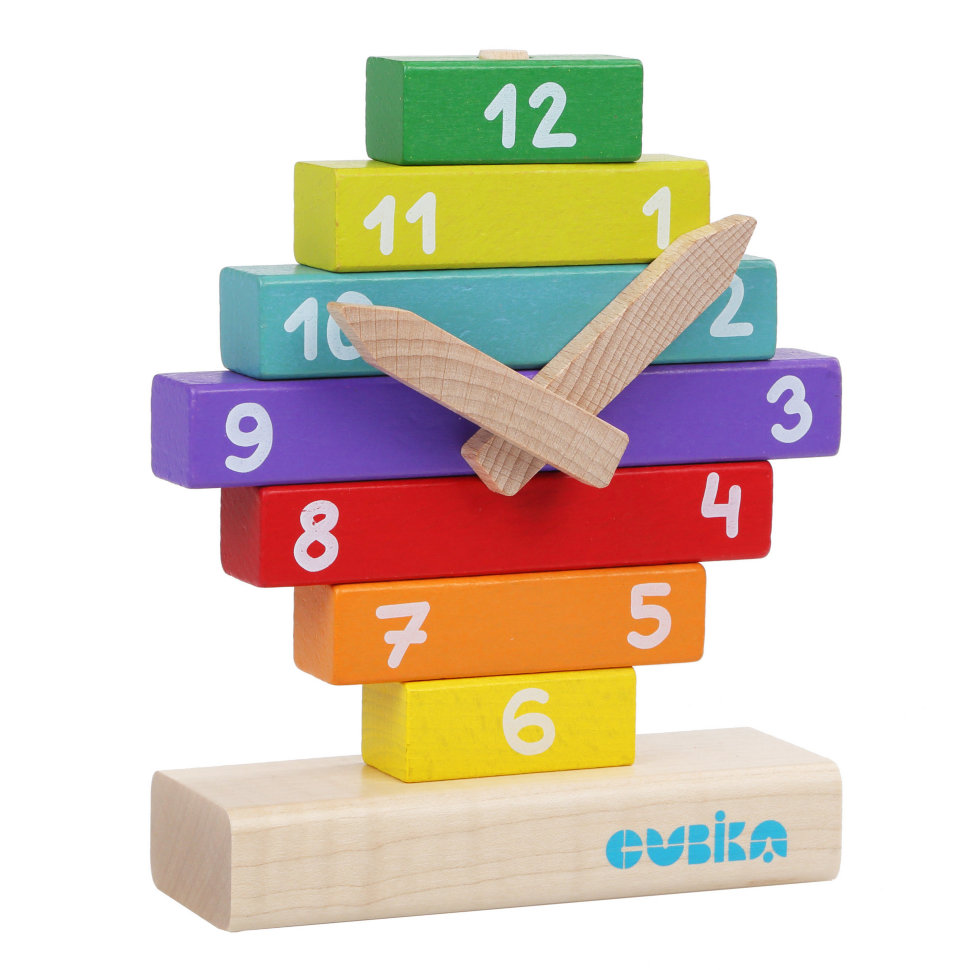 Конструктор деревянный CUBIKA Часы