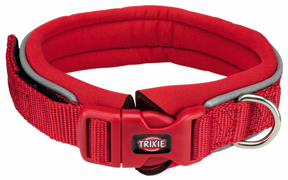 Ошейник для собак TRIXIE Premium, с неопреновой подкладкой, красный, L–XL, 55–61см, 30мм