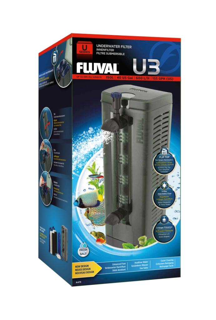 Фильтр для аквариума внутренний Fluval U3, 600 л/ч,